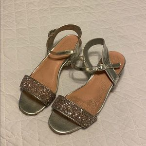 Girls BCBG sparkle dress sandals